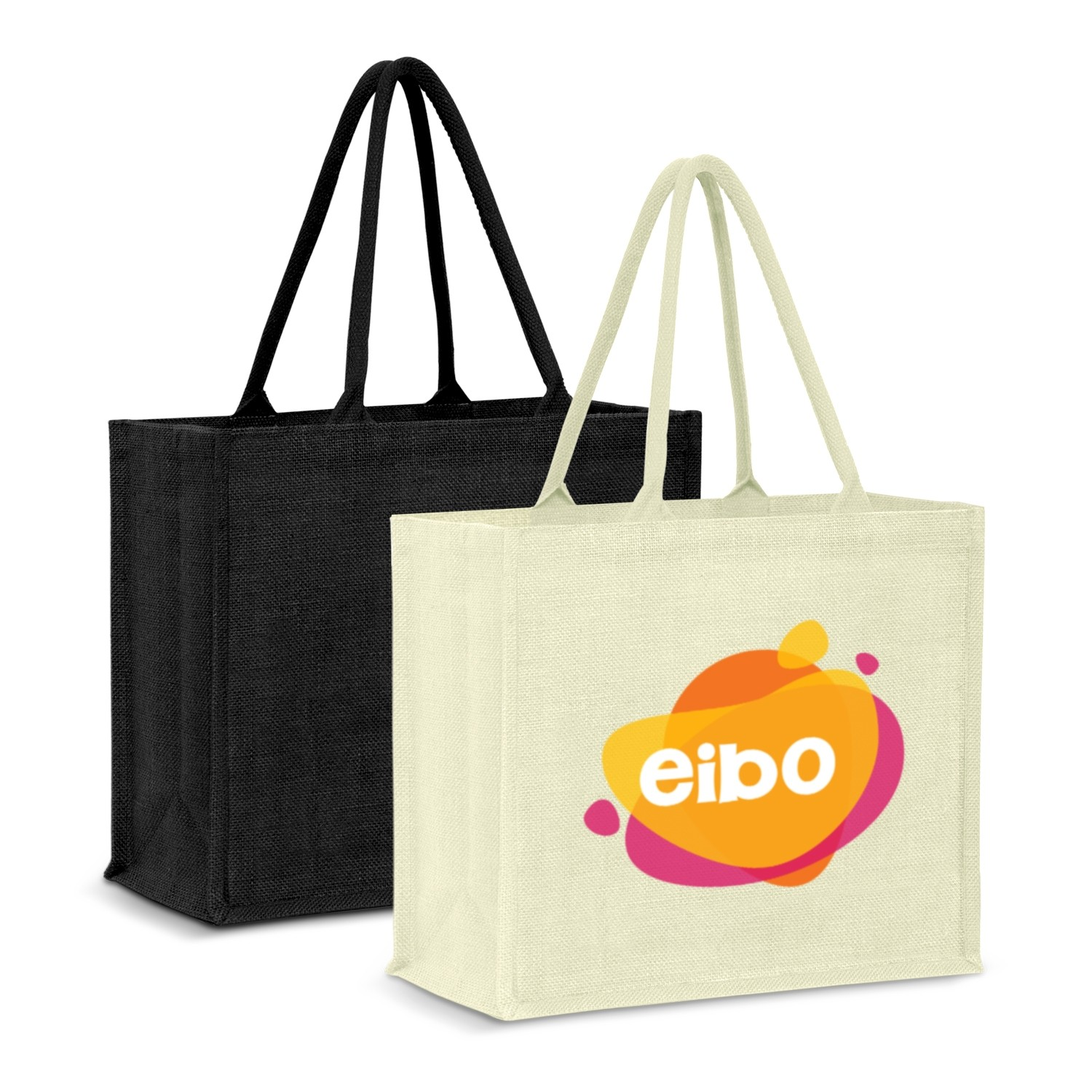 Colour Matched Modena Jute Tote Bag custom branded-30