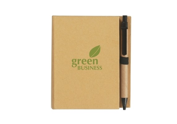 Eco-Inspired Notebook With Pen custom branded-31