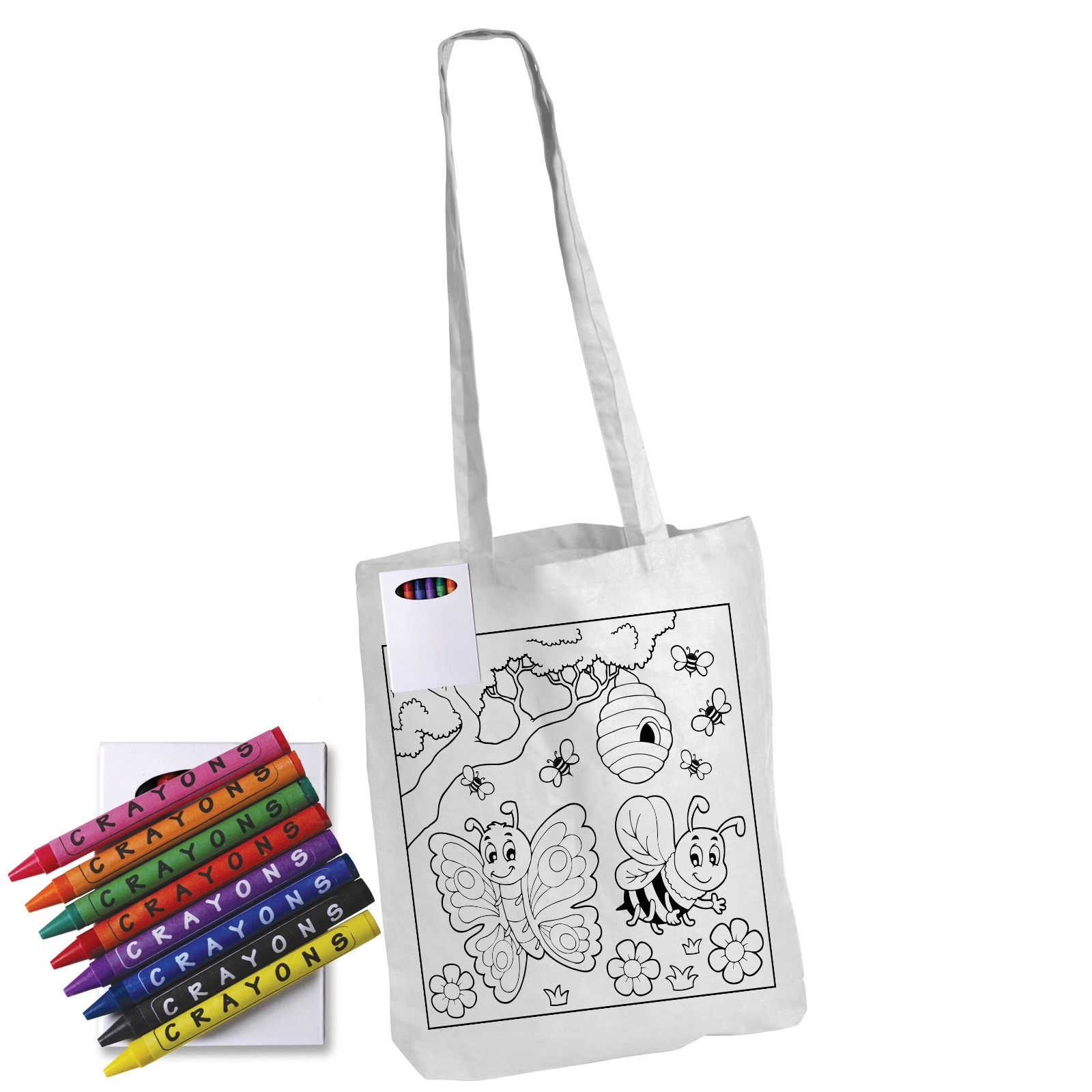 Colouring in Long Handle Bag with Crayons custom branded-30