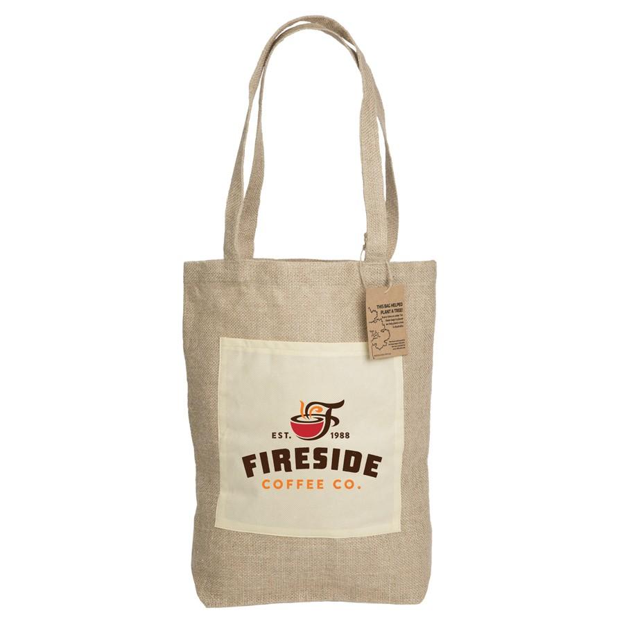 Reforest Jute Shopper custom branded-32