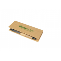 Eco Post-It Notes Box With Recycled Paper Pen And Calendar custom branded-21