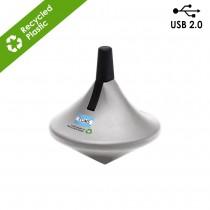 Twista USB 2.0 Memory Drive Recycled ABS SilverandBlack 8GB custom branded-21