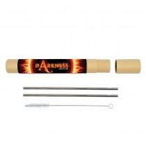 Evergreen Stainless Straw Set custom branded-21