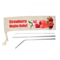 Stainless Straw Set custom branded-21
