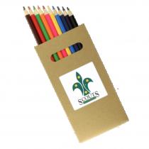 10 Pk Natural Wood Colouring Pencil custom branded-21