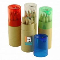 12pc Pencil Set Tube W Sharpener custom branded-21