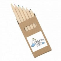 Half Pencils Colouring 6 Pack Natural Wood custom branded-21
