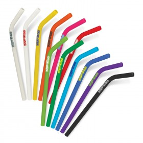 Branded Silicone Straws