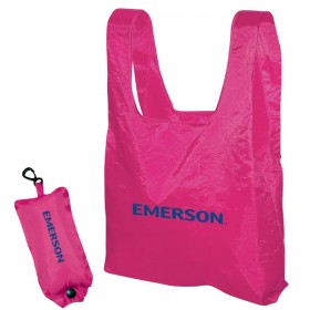 Folding Nylon Tote With Pouch