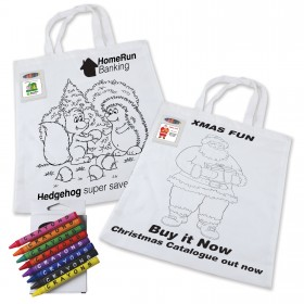Colouring in Short Handle Bag with Crayons