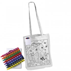 Colouring in Long Handle Bag with Crayons