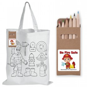 Short Handle Bag with Colouring Pencils