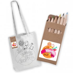 Long Handle Bag with Colouring Pencils