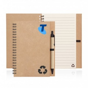 Eco Notebook Recycled Paper Spiral Bound With Z244 custom branded-22